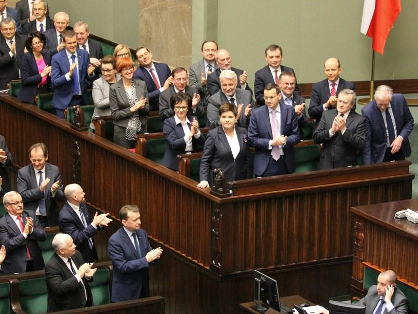 Rada ministrów w Sejmie /Robert Ostrowski /East News