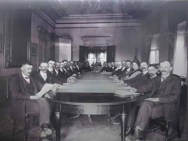 Rada Narodowa Księstwa Cieszyńskiego (fot. Muzeum Śląska Cieszyńskiego) /Z archiwum Narodowego Archiwum Cyfrowego