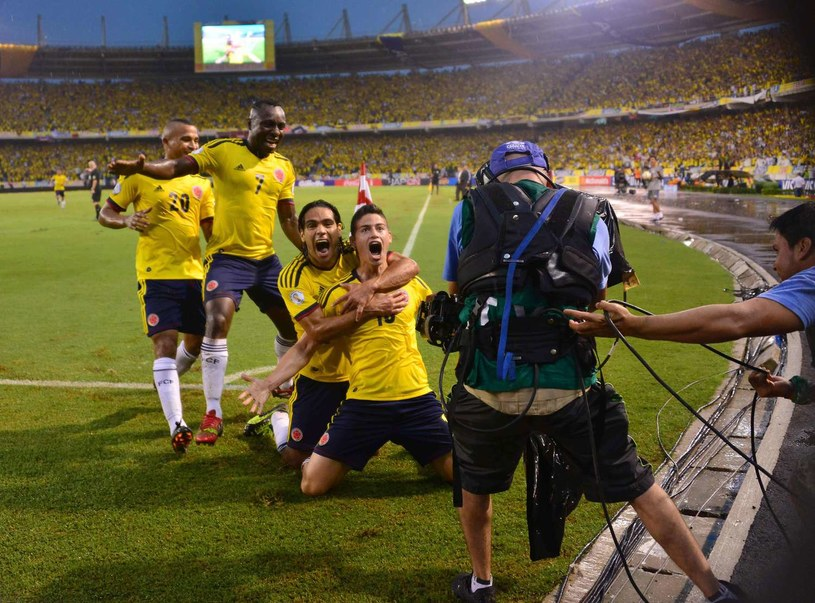Radamel Falcao i James Rodriguez poprowadzą Kolumbię do sukcesu? /AFP