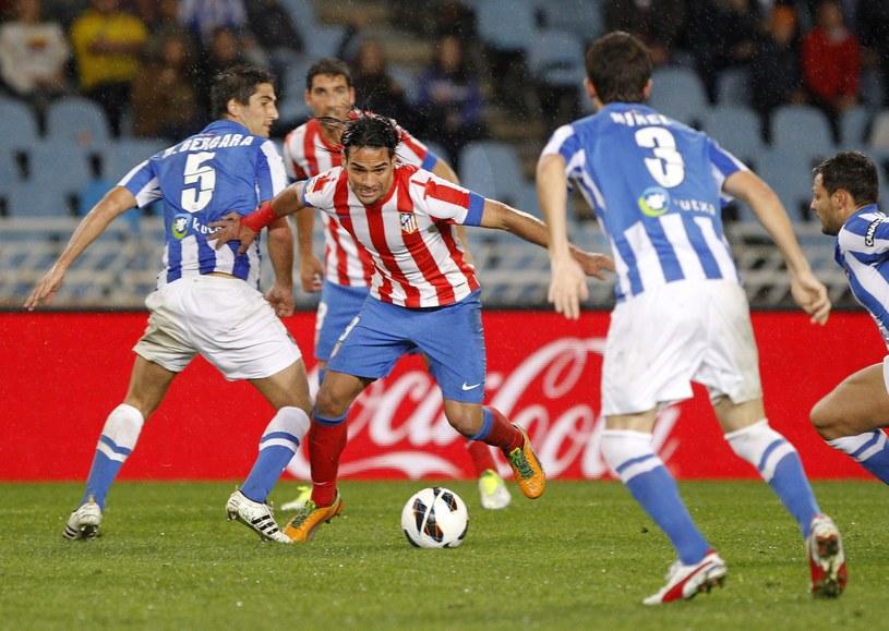 Radamel Falcao mija obrońców Realu Sociedad /AFP
