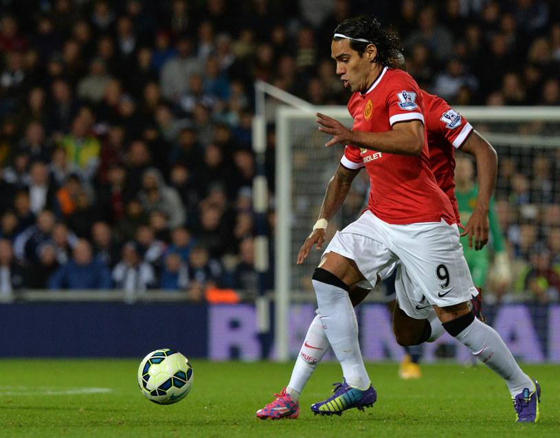 Radamel Falcao w barwach Manchesteru United /PAUL ELLIS /AFP