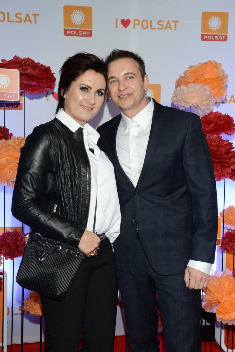 Radek Liszewski z żoną Dorotą Liszewską /Piotr Fotek /Reporter