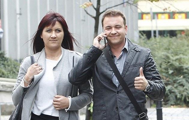 Radek Liszewski z żoną /- /AKPA
