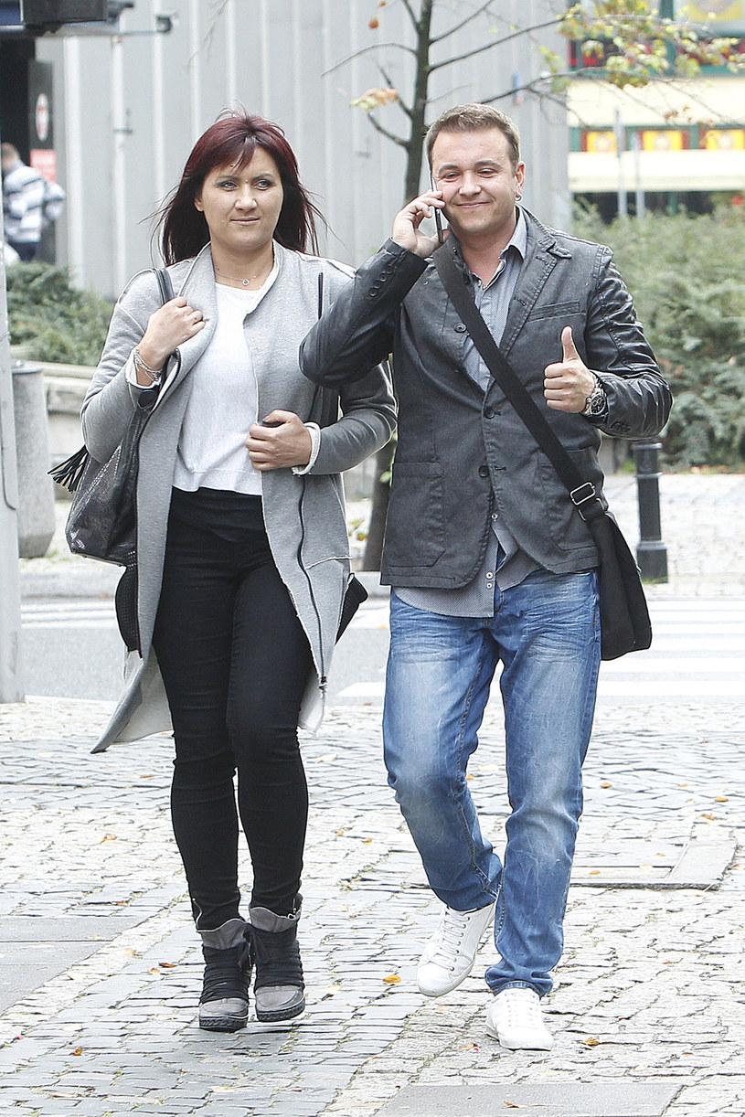 Radek Liszewski z żoną /Jordan Krzemiński /AKPA