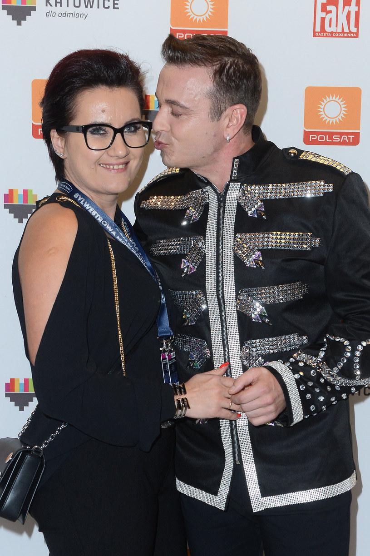 Radek Liszewski z żoną /MWMedia