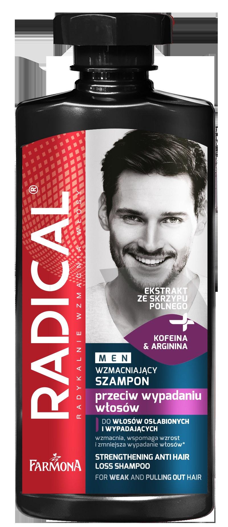 RADICAL MEN wzmacniający szampon przeciw wypadaniu do włosów słabych i wypadających /INTERIA.PL/materiały prasowe