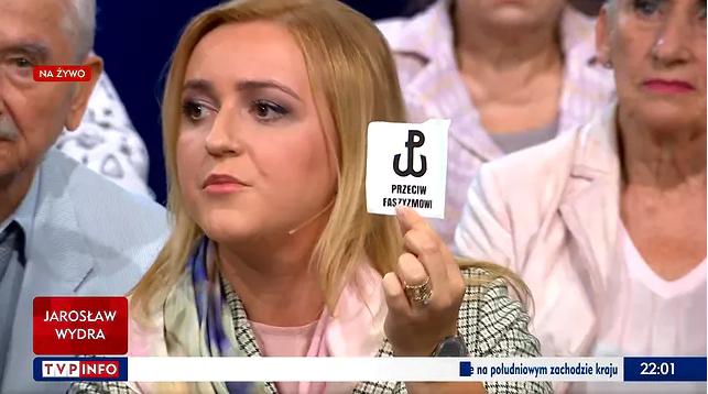 Radna PiS Olga Semeniuk w programie TVP Info (screen) /TVP Info