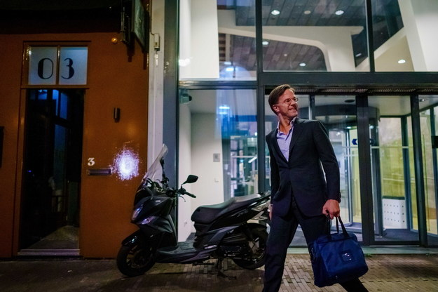 Radny miał przygotowywać zamach na premiera Rutte /Marco DE SWART / ANP /PAP/EPA