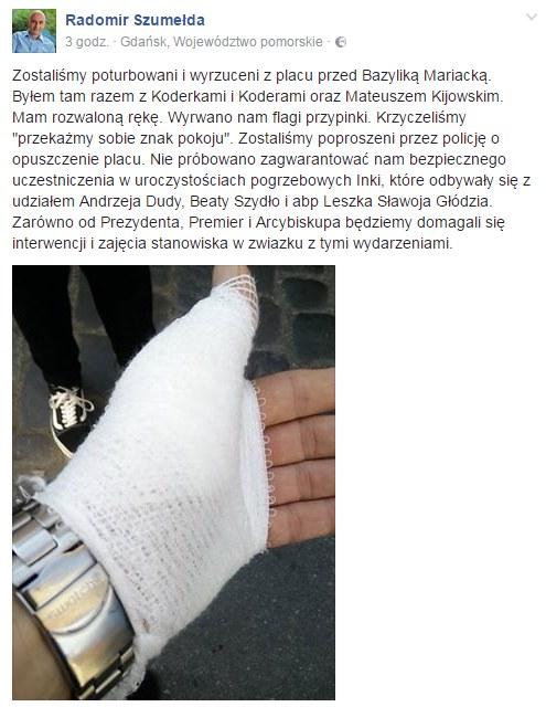 Radomir Szumełda na Facebooku /facebook.com