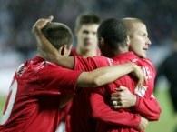 Radość Anglików po zwycięstwie nad Polską /AFP