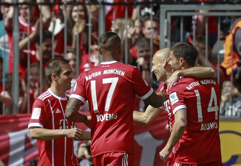 Radość Bayernu po trafieniu Robbena /PAP/EPA