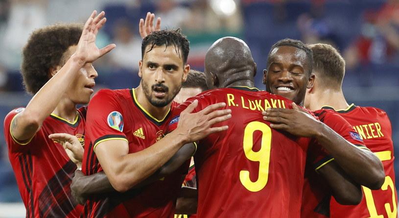 Radość belgijskich piłkarzy /ANATOLY MALTSEV  /PAP/EPA