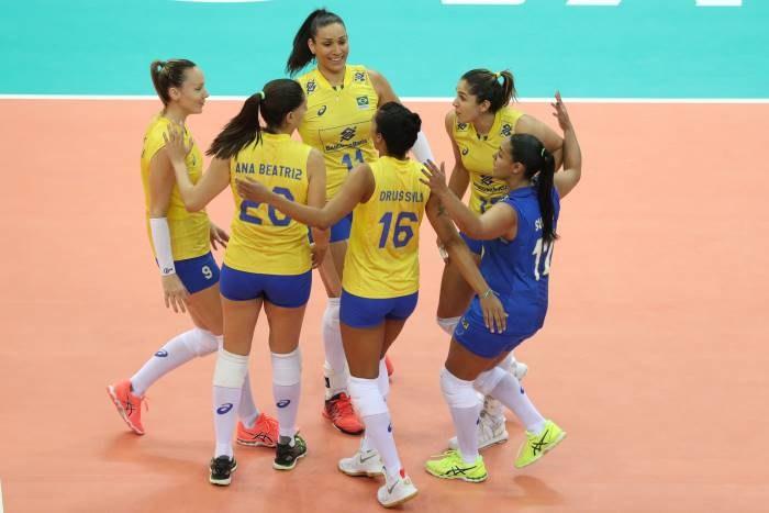 Radość brazylijskich siatkarek; źródło: www.fivb.com /