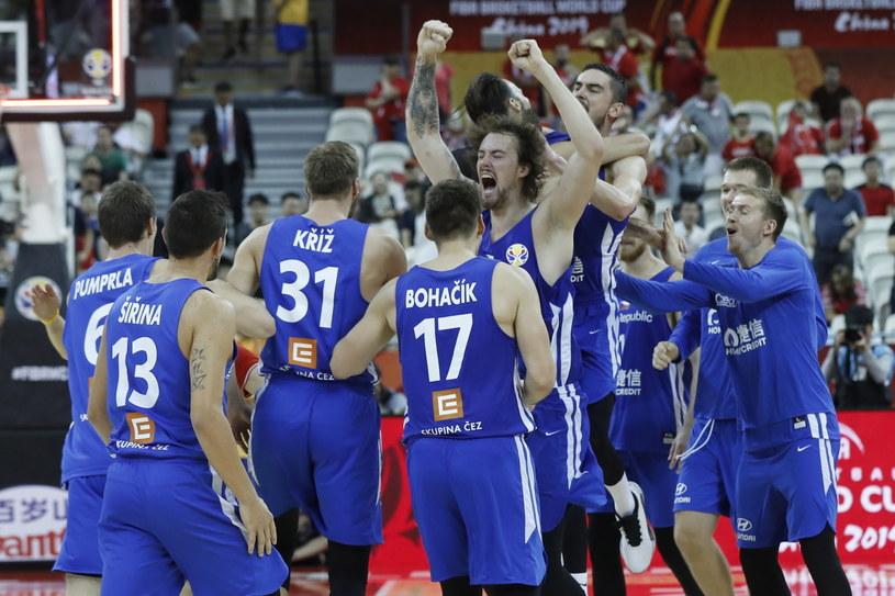 Radość czeskich koszykarzy /PAP/EPA