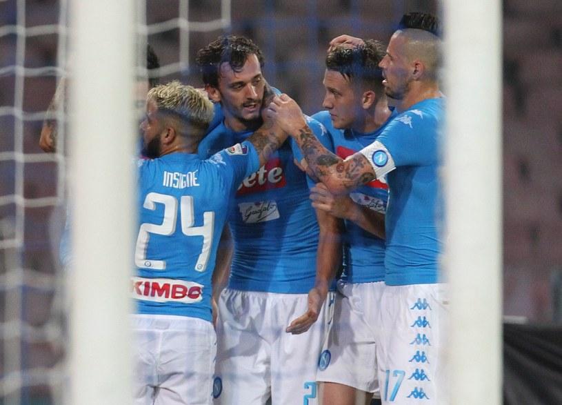 Radość drużyny Sarriego po golu Gabbiadiniego /AFP