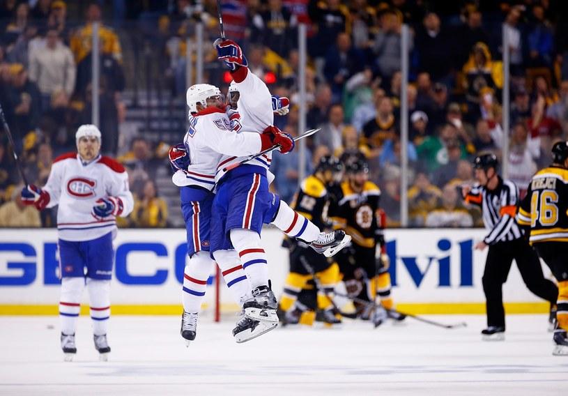 Radość hokeistów Montreal Canadiens po zdobyciu zwycięskiego gola przez P.K. Subbana /AFP