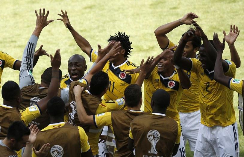 Radość Kolumbijczyków po golu Pabla Armero /AFP