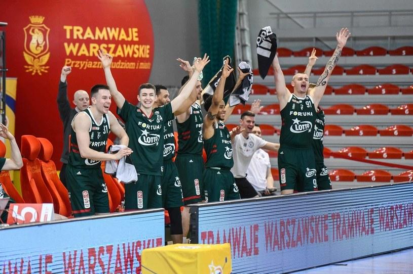 Radość koszykarzy Legii Warszawa /Fot. Jacek Prondzyński /Newspix