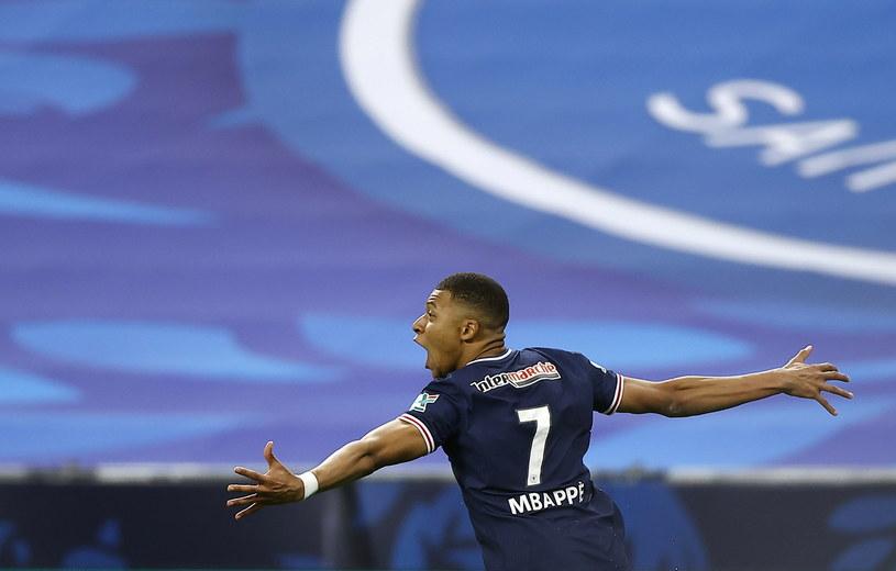 Radość Kyliana Mbappe w finale Pucharu Francji /IAN LANGSDON /PAP/EPA