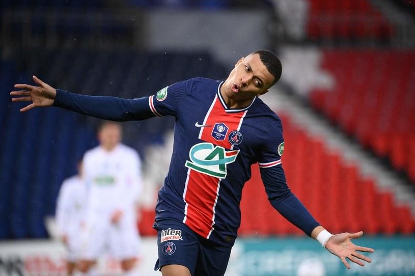 Radość Kyliana Mbappe w meczu z Lille /FRANCK FIFE /AFP