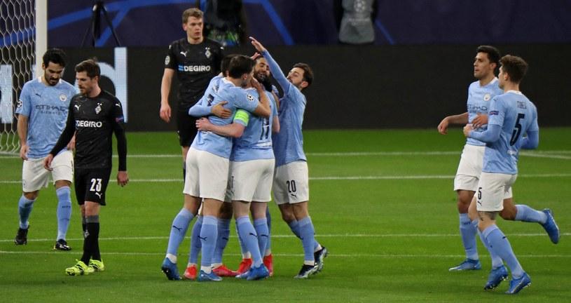Radość Manchesteru City po golu Kevina De Bruyne /AFP