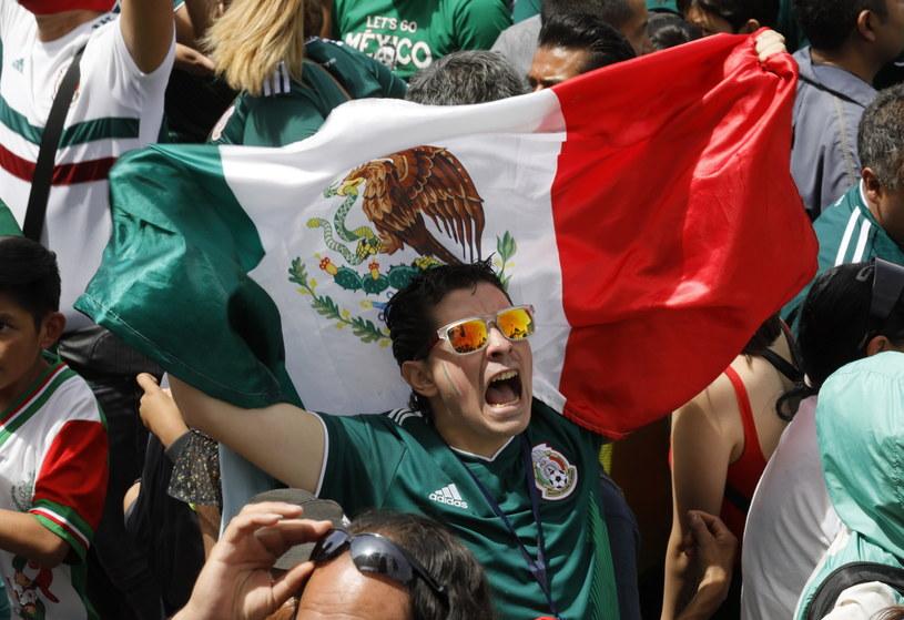 Radość meksykańskich kibiców po zwycięstwie nad Niemcami /PAP/EPA