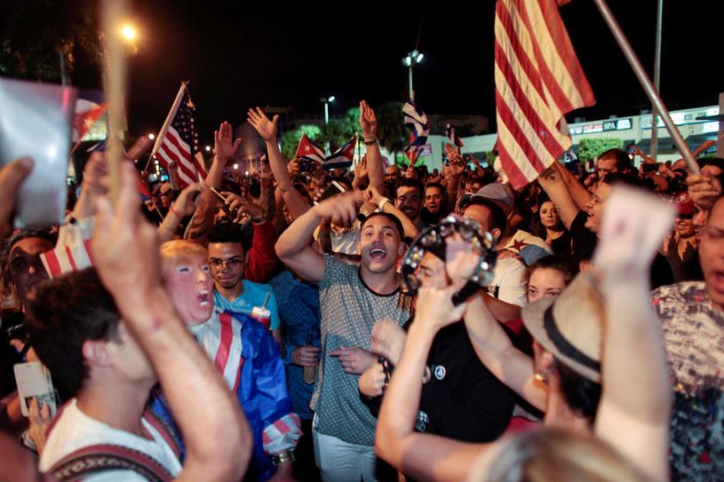 Radość na ulicach Miami po śmierci Fidela Castro /REUTERS/Javier Galeano /Agencja FORUM