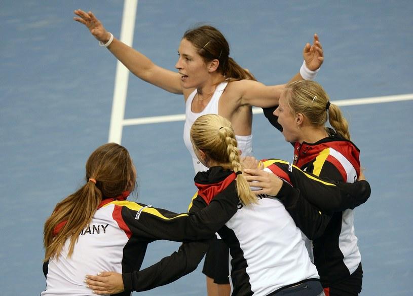 Radość niemieckich tenisistek /AFP
