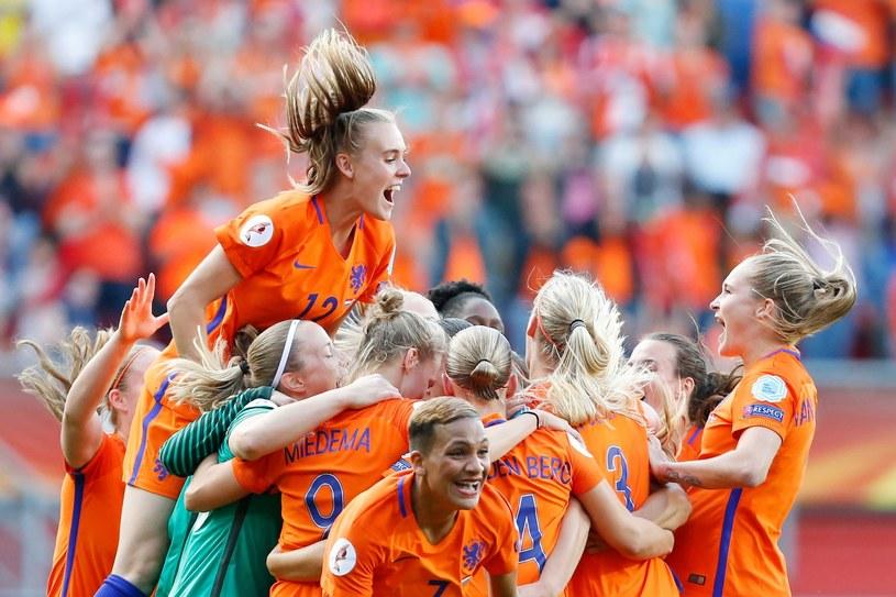 Radość piłkarek Holandii /PAP/EPA