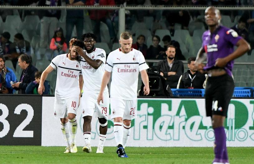 Radość piłkarzy AC Milan /Claudio Giovannini /PAP/EPA
