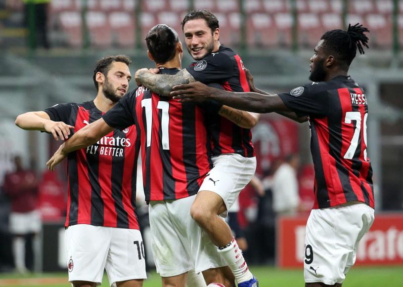Radość piłkarzy AC Milan /PAP/EPA