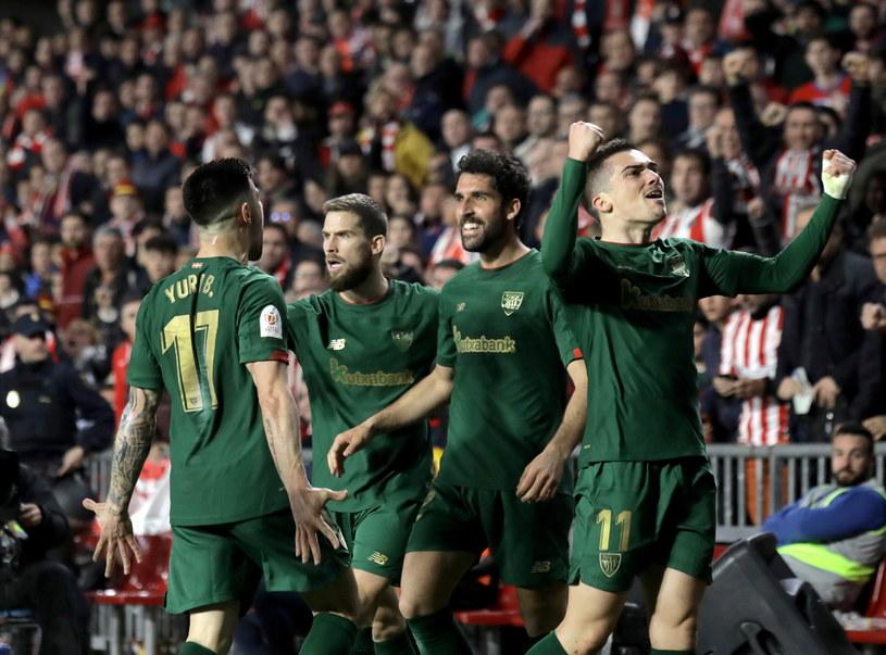 Radość piłkarzy Athletic Bilbao /PAP/EPA