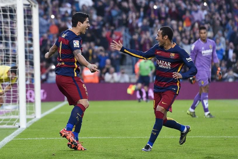 Radość piłkarzy Barcelony po golu strzelonym Villareal /AFP