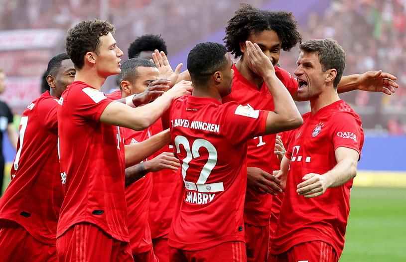 Radość piłkarzy Bayernu Monachium /PAP/EPA
