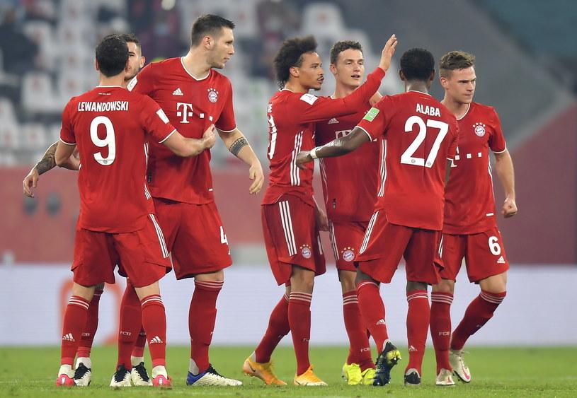 Radość piłkarzy Bayernu Monachium /Noushad Thekkayil /PAP/EPA