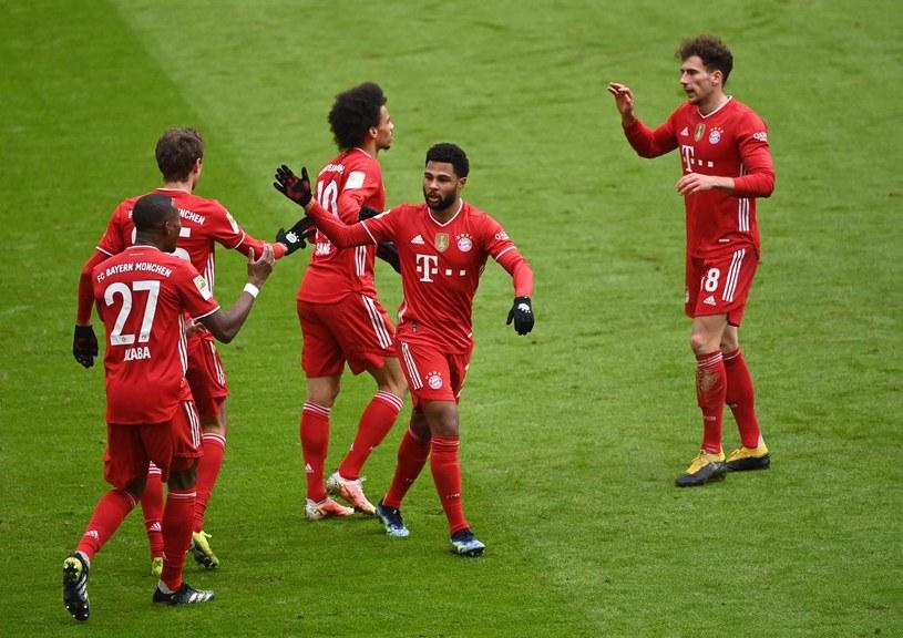 Radość piłkarzy Bayernu Monachium /MATTHIAS BALK /AFP