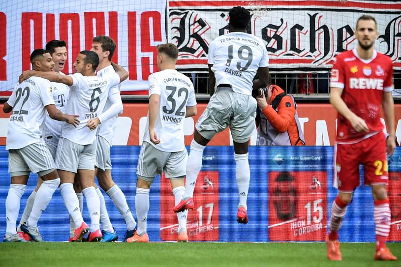 Radość piłkarzy Bayernu po zdobyciu gola /PAP/EPA