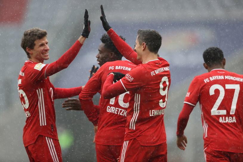 Radość piłkarzy Bayernu /PAP
