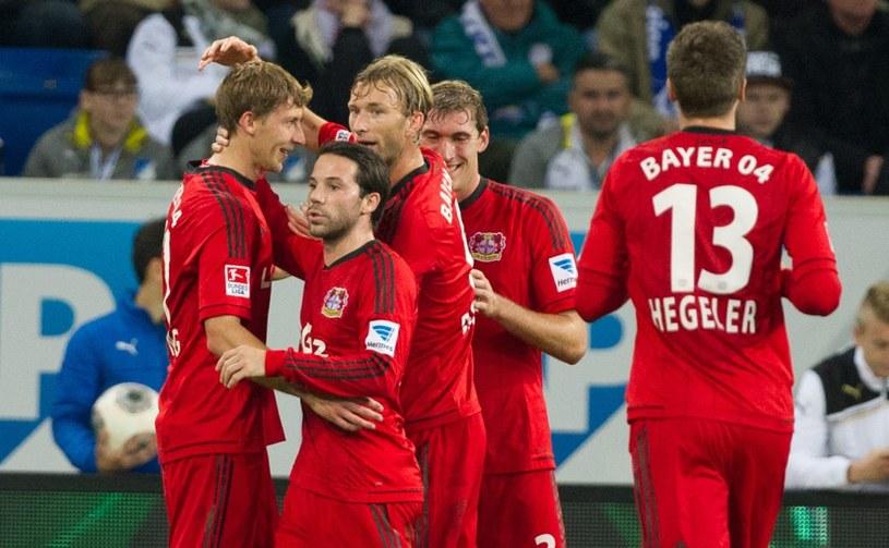 Radość piłkarzy Bayeru Leverkusen /PAP/EPA