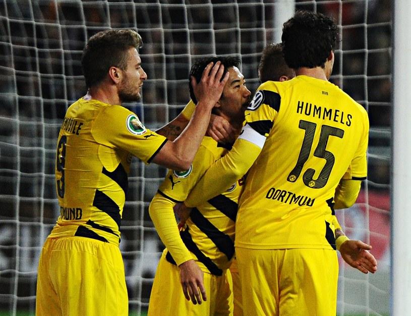 Radość piłkarzy Borussii Dortmund. Z lewej Ciro Immobile /AFP