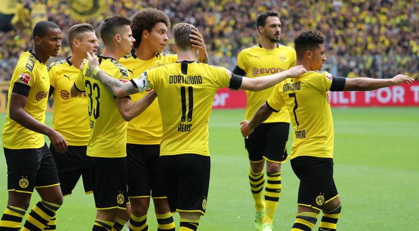 Radość piłkarzy Borussii Dortmund /PAP/EPA