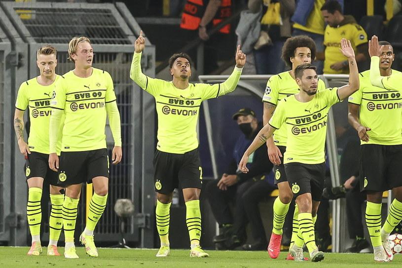 Radość piłkarzy Borussii Dortmund /Friedemann Vogel /PAP/EPA