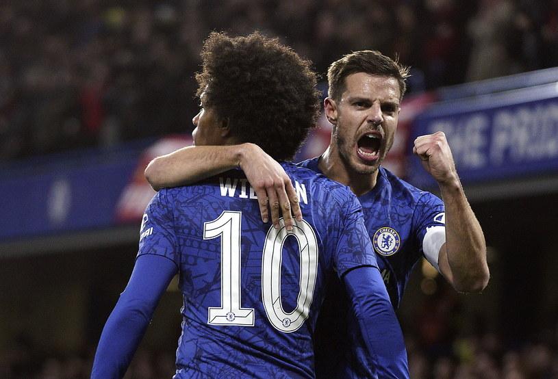 Radość piłkarzy Chelsea /WILL OLIVER  /PAP/EPA