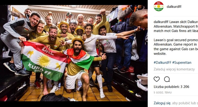 Radość piłkarzy Dalkurd FF; źródło: Instagram /