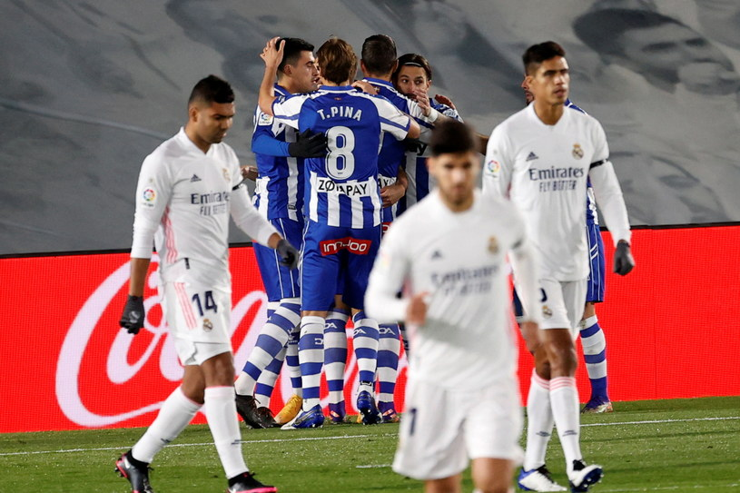 Radość piłkarzy Deportivo Alaves /Chema Moya /PAP/EPA