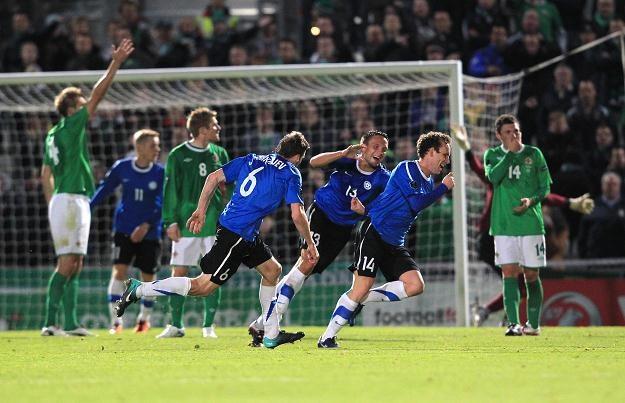 Radość piłkarzy Estonii /AFP