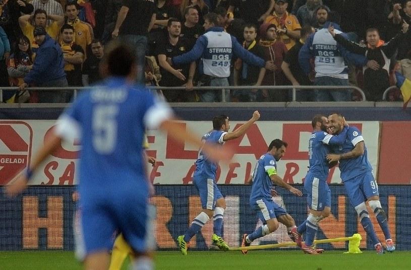 Radość piłkarzy Grecji /AFP