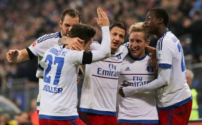 Radość piłkarzy Hamburgera SV /AFP