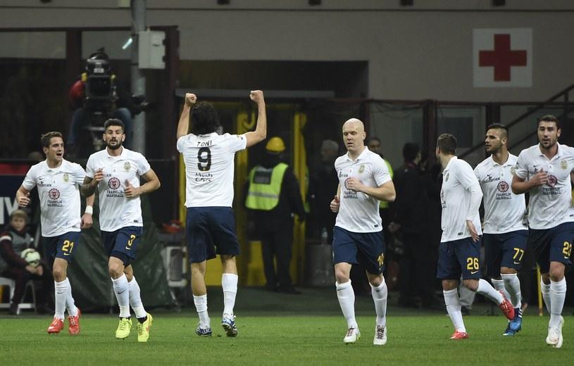 Radość piłkarzy Hellas Werona /AFP