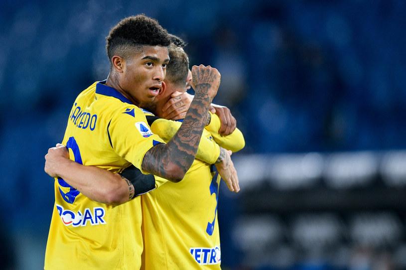 Radość piłkarzy Hellasu Werona /Giuseppe Maffia /East News